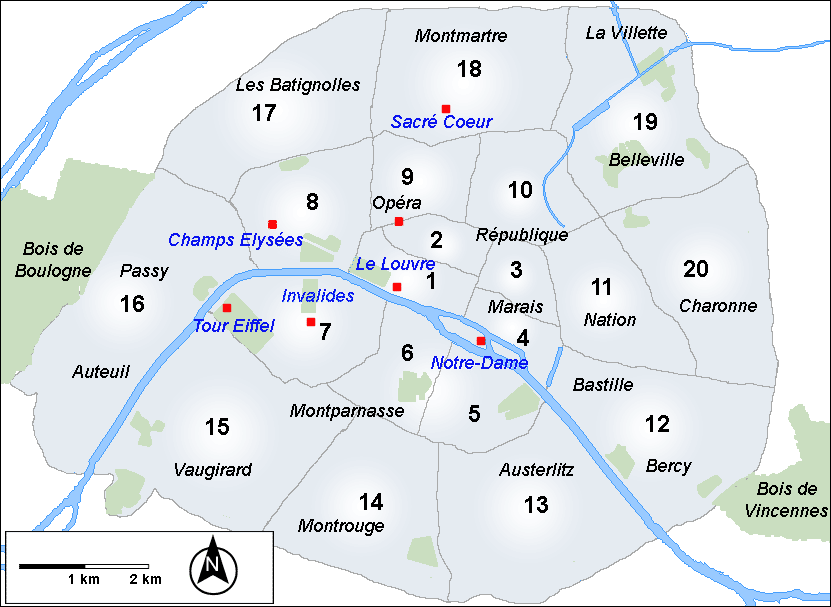 Guide des arrondissements de Paris